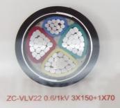 ZC-VLV22 0.6/1kV 3X150+1X70