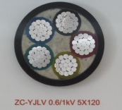 ZC-YJLV 0.6/1kV 5X120