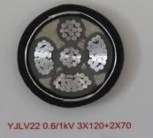 YJLV22 0.6/1kV 3X120+2X70