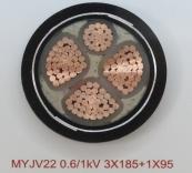 MYJV22 0.6/1kV 3X185+1X95