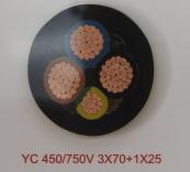YC 450/750V 3X70+1X25